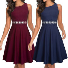 Womens Summer Sleeveless Cocktail Party Evening Wedding Guest Homecoming Dresses