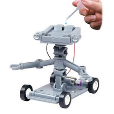 Mini DIY Assembly Salt Water Powered Robot Kit Kids Gift Science Educational Toy