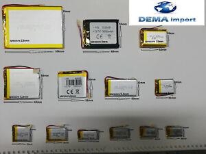 batterie a litio di polimery varie mha 3.7v DIGITALE wacht,mp3,cuffie,bluetooth