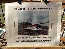 "PRINT OF WWII NAVY RECRUITMENT POSTER NAMED ""YANTZE RIVER GUNBOATS"""