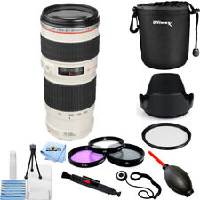 Canon EF 70-200mm f/4L USM Lens 2578A002 Pro Filter Kit Lens Pouch Bundle