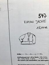 Schnittmuster Katan Jacke 547 Monika Popp Natur zum Anziehen Lagenlook unbenutzt