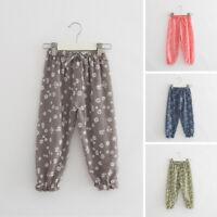 Hot 4 Styles Kids Girl Baby Leggings Flower Floral Printed Pants Leging Trousers