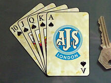 AJS Royal Da incasso Di gioco Carte motocicletta adesivo 10.2cm Moto 7R S6 S5 S8