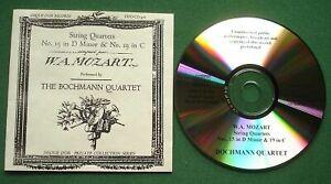 Mozart String Quartets 15 19 Bochmann Quartet Disque D'or Private Collection CD