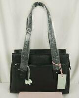Radley Villiers Road Large Shoulder Bag Work Bag Black Grained Leather New