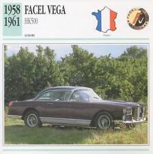 1958-1961 FACEL VEGA HK500 Classic Car Photograph / Information Maxi Card