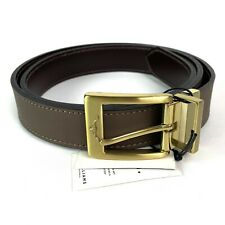 RM Williams Brown Cowhide Leather Belt Branded Buckle Size 38 Made in Australia
