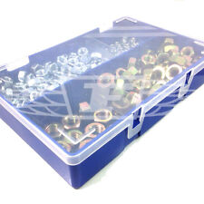 370 PIECE M6, M8, M10, M12 STEEL FULL NUTS ZINC YELLOW PLATED BOX INCLUDED (FWS)