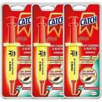 CATCH Gel Anti-cafards 3 Seringue 10 g - Produit Anti Cafards de Maison Puissant