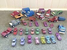 Lot 35 Vtg TootsieToy Metal Die Cast Metal Cars Trucks Vans Trailers 1960s 70s