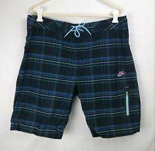 NIKE Plaid Board Shorts Unlined Men's Size 34