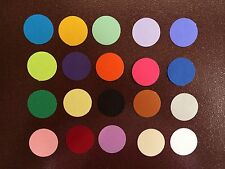 MARTHA STEWART 1 INCH CIRCLE PAPER PUNCHES 100 DIE CUTS 20 MIXED COLORS