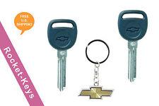 Chevy Tahoe, Silverado, Malibu - 2 New Transponder Micro Chip Keys w/Key Chain