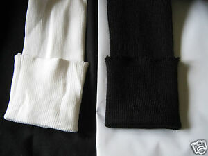TUBULAR KNITTED CUFFING    70mm  black or white  per yard