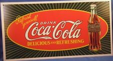 COKE COCA COLA  SODA ADVERTISING STARBURST  METAL SIGN 1923 bottle made in USA