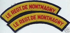 CANADA Canadian Armed Forces Le Regiment de Montmagny shoulder flashes