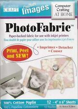 "PHOTO FABRIC Transfer Sheets for Printer 12 4""x6"" Sheet Make Pilows and More!"