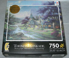 Thomas Kinkade Clocktower Cottage Spec. Ed. Metallic Jigsaw Puzzle 750 pieces