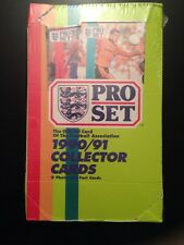 1990-1991 PRO SET SOCCER FOOTBALL box cards 48 packs SEALED United Kingdom