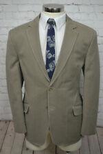 Andrew Fezza Mens Brown MODERN FIT Cotton Blazer Sport Coat Jacket 46R