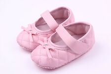 NEW Baby Girl Quilted PU leather Mary Janes Shoes 3-18 months white pink black