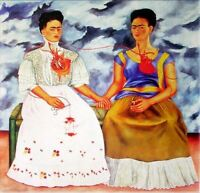 Frida Kahlo Oil painting on canvas Classic wall decor The Two Frida's 24x24""
