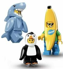 NEW LEGO CMF Lot Of 3 Minifigures 71013 PENGUIN BOY BANANA GUY 71011 SHARK SUIT