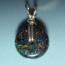 Pendentif argent Opale de fée Australie 5.70ct VIDEO Fairy opal pendant matrix