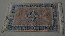 2'x3' Hand Knotted Persian Design Chinese all Silk Rug - Red Carpet