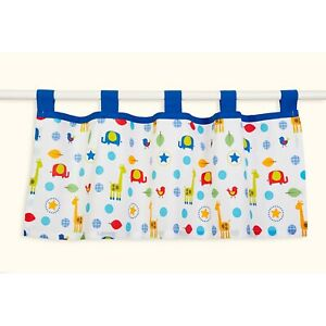 ~NEW~ Pinwheel Safari Garden Blue 2 Pack Window Valances Nursery Decor