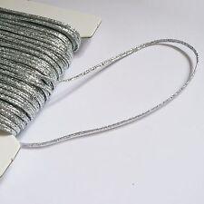 3mm Russia Braid (soutache cord) Silver or Gold metallic lurex - per 2m length