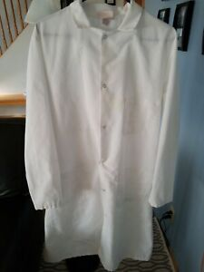 RED KAP LONG WHITE SHIRTS LAB COATS SIZE Medium Snap up 3 pocket