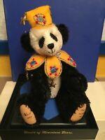 CHEN World of Miniature Bears Mohair Panda Dressed Theresa Yang Teddy Bears