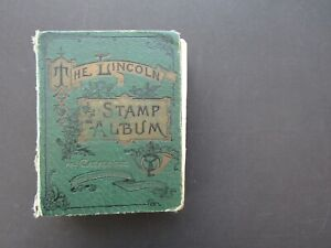 OLD 1914 LINCOLN ALBUM WITH ORIGINAL COLLECTION - MINT + USED UNCHECKED