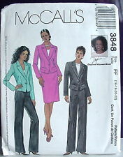 McCall's Pattern 3848, Size 16-22, Misses Petite Jacket, Pants, Skirt, Copyr2002