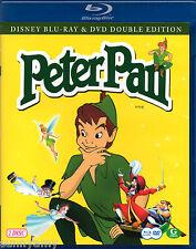 Disney Classic Tale - Peter Pan - Blu ray & DVD Disc Set - Region Free (NEW)