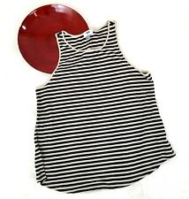 Old Navy Womens Top Size XL Striped Loose Fit Knit Tank Sleeveless Stretch o1172