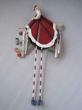 "Wind Chime Santa Christmas Ornament 8"""