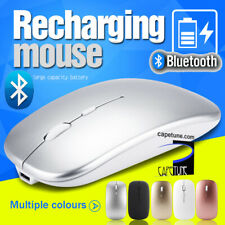 Slim Rechargeable Bluetooth Wireless Mouse for Tablets PC's iPad Android Surface