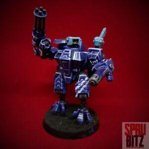 Tau XV8 Crisis Battlesuit Painted Model OOP Warhammer 40k BLUE Tau Empire WH40K