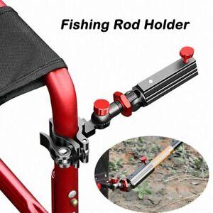 Fishing Rod Holder Chair Mount Bracket Pole Universal Connect Rack Adjustable
