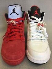 Nike Air Jordan 5 Retro Mismatched L 136027-104 R 136027-602 Sz 9.5 CV32