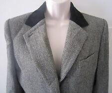 Lauren by Ralph Lauren 100% Wool Velvet Collar Chevron Blazer Jacket ~ Size 10