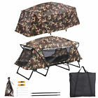Single Tent Cot Folding Oversized Camping Hiking Bed Portable Outdoor Rain Fly
