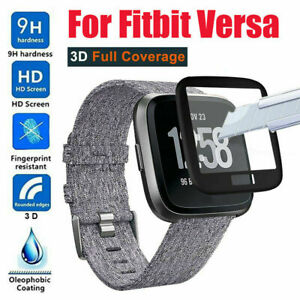 Full Cover 3D Edge Tempered Glass Screen Protector for Fitbit Versa Smartwatch