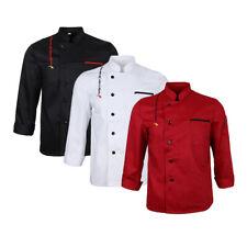 Men Women Long Sleeve Chef Uniform Cook Jacket