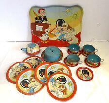 Ohio Art Tin Litho Tea Set