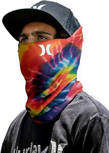 HURLEY Breathable Neck Gaiter One Size Tie Dye Rainbow Run Running