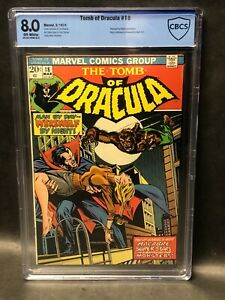 TOMB OF DRACULA #18 CBCS 8.0 OW/W PAGES  **Werewolf by Night Appearance**